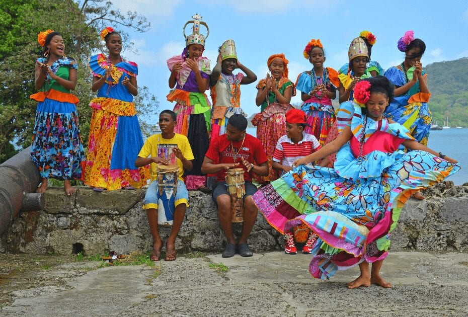 An afro colonial dance in Panama