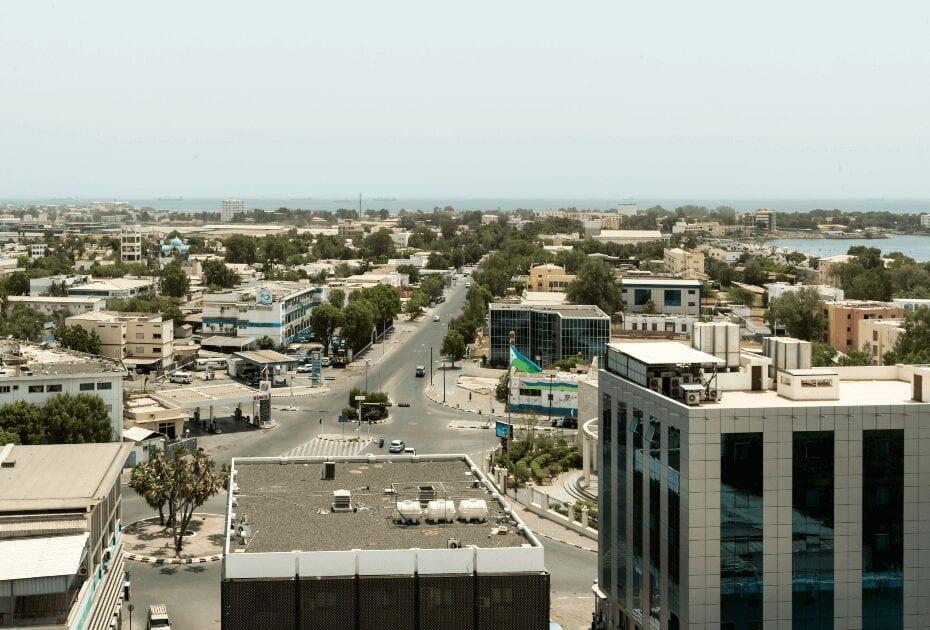 Boulevard de La Republique downtown in Djibouti