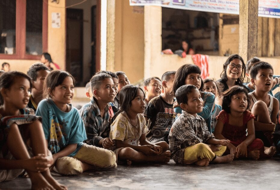 Children in Namu Keeling, Indonesia