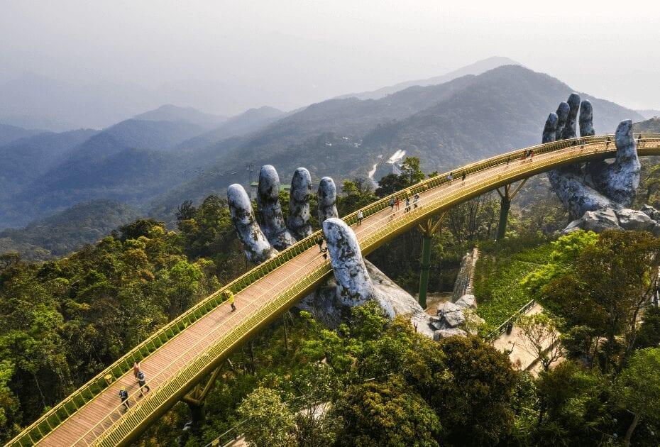 Golden Bridge of Ba Na Hill in Danang, Vietnam