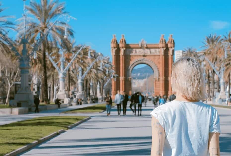 arc de triumph in Barcelona, Spain