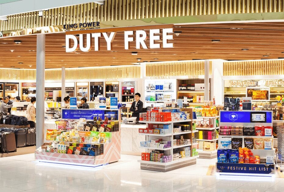 Duty free shop in Suvarnabhumi international airport