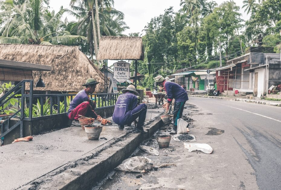 Potholes and gravel can be the greatest enemy on Indonesian roads.