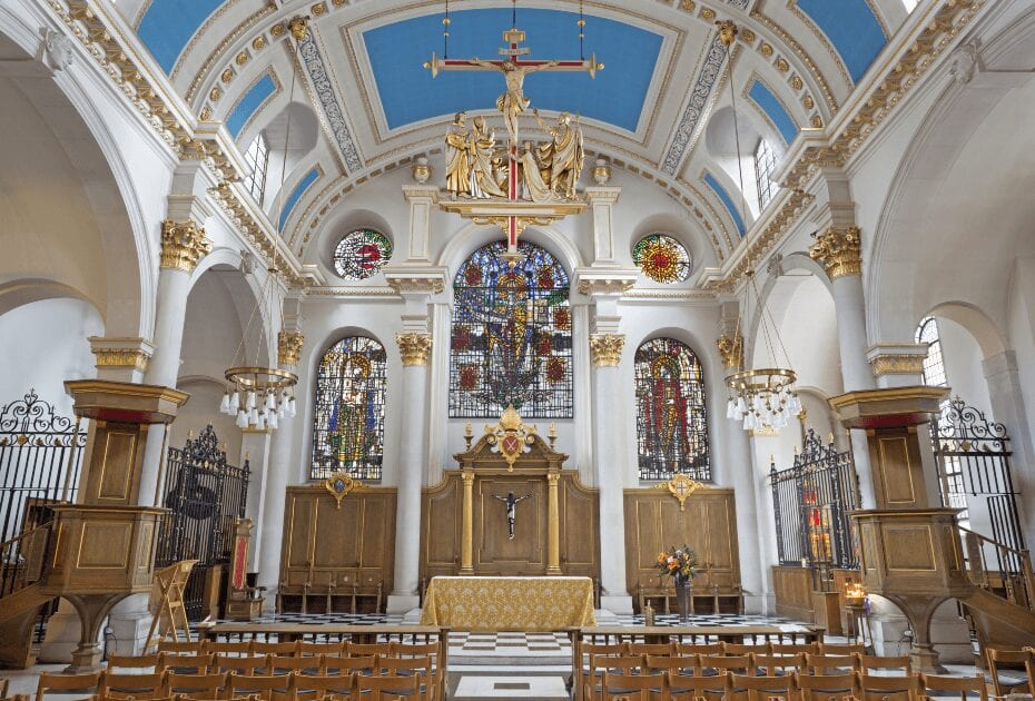 St. Mary le Bow in London - best churches to visit in London