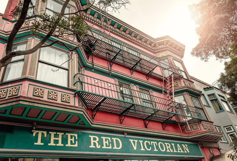 The Red Victorian hotel in San Francisco