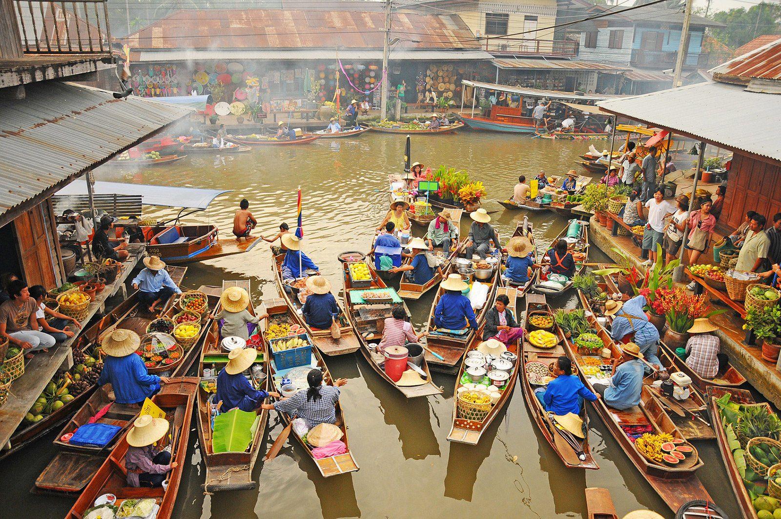 Amphawa floating market - Thonburi District